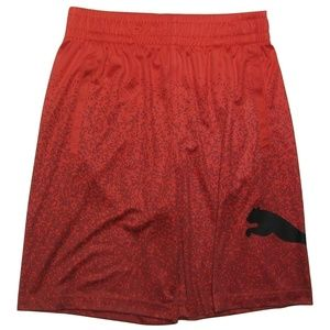 PUMA Boys' Isiah Shorts, Flame Scarlet, Size Small